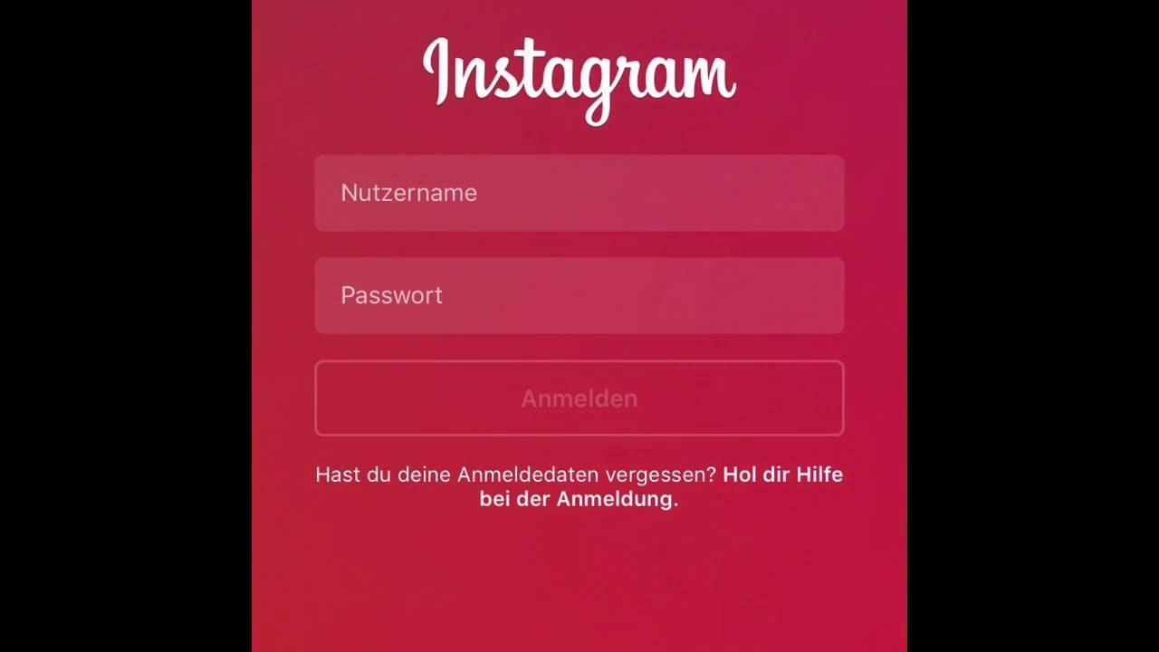 instagram passwort vergessen