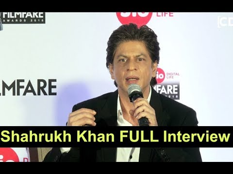 Shahrukh Khan FULL Interview At 63rd Jio Filmfare Press Conference