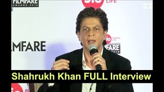 Shahrukh Khan FULL Interview At 63rd Jio Filmfare Press Conference