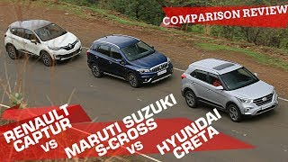 Hyundai Creta 2018 vs Maruti S-Cross vs Renault Captur: Comparison Review | ZigWheels.com
