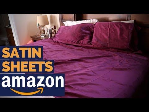 BEST AMAZON SATIN SHEETS? - Honeymoon Sheets Review
