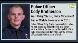 West Valley City Police Officer Cody Brotherson was laid to rest Mo...