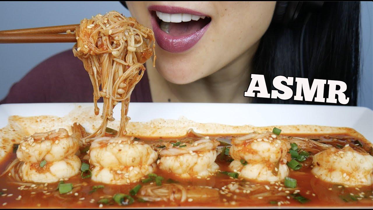 Asmr Spicy Enoki Mushrooms Prawns Eating Sounds Sas Asmr Youtube Spicy seafood boil mukbang 매운 해물찜 먹방 octopus, shrimp, scallop, enoki mushroom cooking&eating sounds. asmr spicy enoki mushrooms prawns eating sounds sas asmr