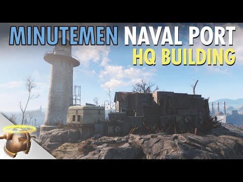 FALLOUT 4: BUILDING A MINUTEMEN NAVAL HQ (Kingsport Lighthouse Ep. 5)