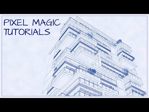 Turn a Photo into an Architectural Blueprint - Photoshop Tutorial