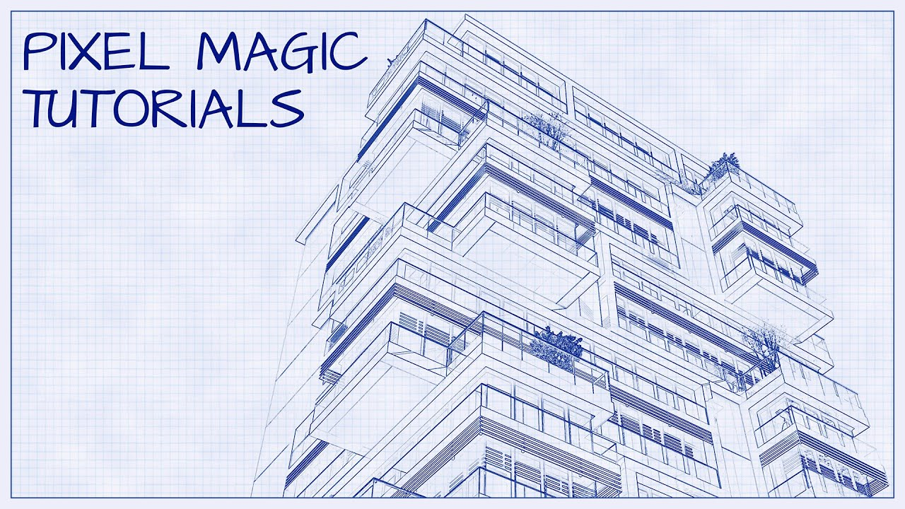 Turn a photo into an architectural blueprint photoshop tutorial turn a photo into an architectural blueprint photoshop tutorial youtube malvernweather Choice Image