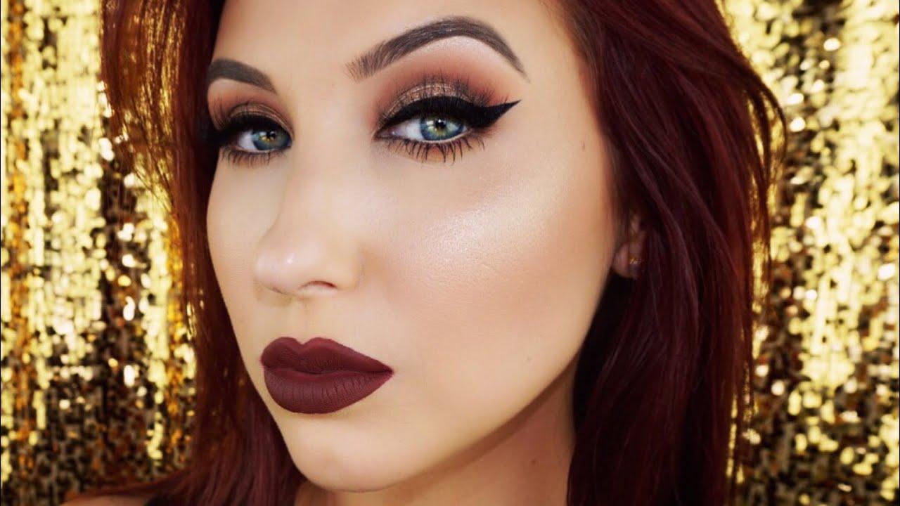 Cat Eye Vampy Lips Fall Makeup Tutorial Youtube