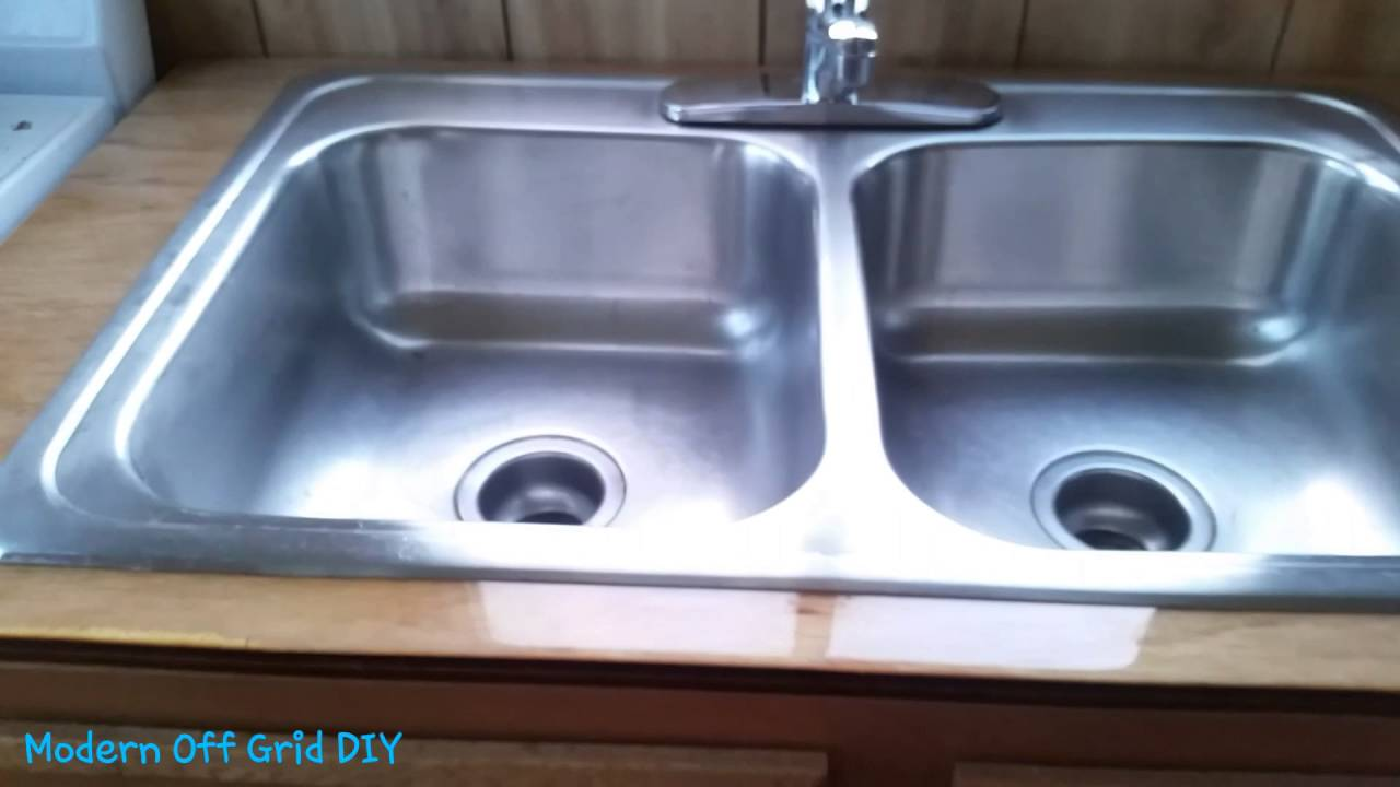 Epoxy Countertop For Sink - Looks Good - Off Grid Cabin - YouTube