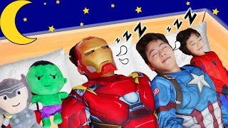 슈퍼 히어로 마슈와 영어 동요 배워요! SuperHeroTen in the Bed - Nursery Rhymes & Kids Songs 마슈토이 Mashu ToysReview