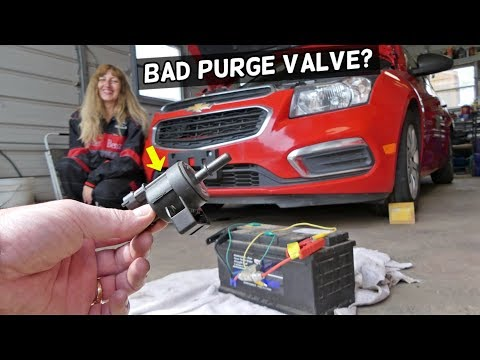 HOW TO KNOW IF PURGE VALVE IS BAD OR GOOD ON CHEVROLET CRUZE SONIC. CHEVY PURGE VALVE CODE