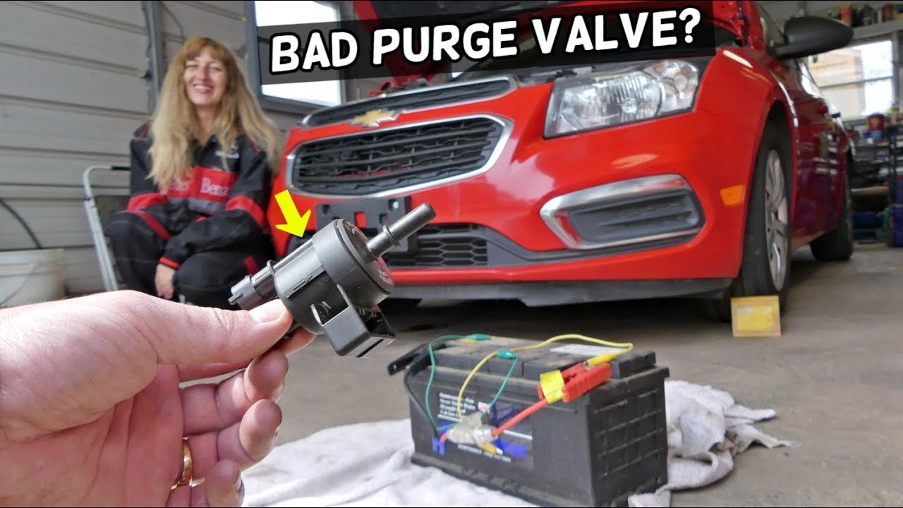 HOW TO KNOW IF PURGE VALVE IS BAD OR GOOD ON CHEVROLET CRUZE SONIC  CHEVY  PURGE VALVE CODE