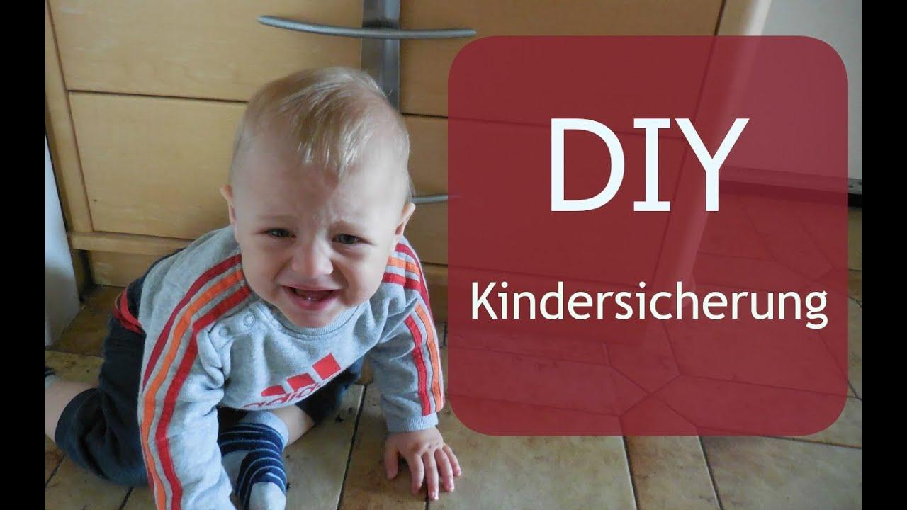 DIY Kindersicherung I Schubladen versperren I MamaBirdie - YouTube