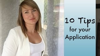 How to prepare an application - 10 Tips - LLL