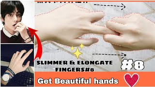 Exercises Fingers  How to ELONGATE and SLIM your fingers?  beautiful hands