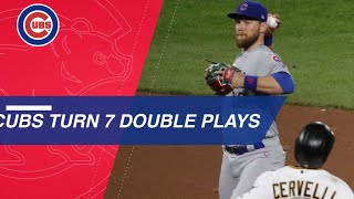 Cubs tie double play record