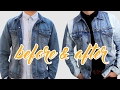 HOW TO UPCYCLE AN OLD DENIM JACKET  I MEN'S FASHION