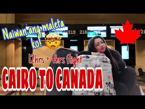 CAIRO EGYPT TO CANADA FLIGHT VIA EGYPTAIR | DELAYED BAGGAGE AIR CANADA | PART 2