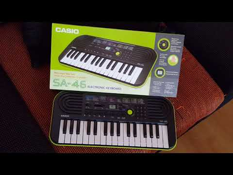 Casio SA-46 Voices and Factory Demo