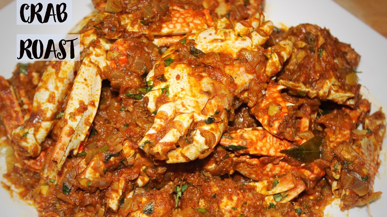 How To Make Crab Roast In Kerala Style Youtube