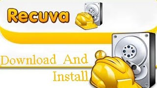 DATA RECOVERY SOFTWARTE // RECUVA // DOWNLOAD AND INSTALL // WINDOWS 7.