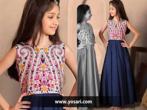 Indowestern Dresses For Girls Kids By yosari.com , YouTube