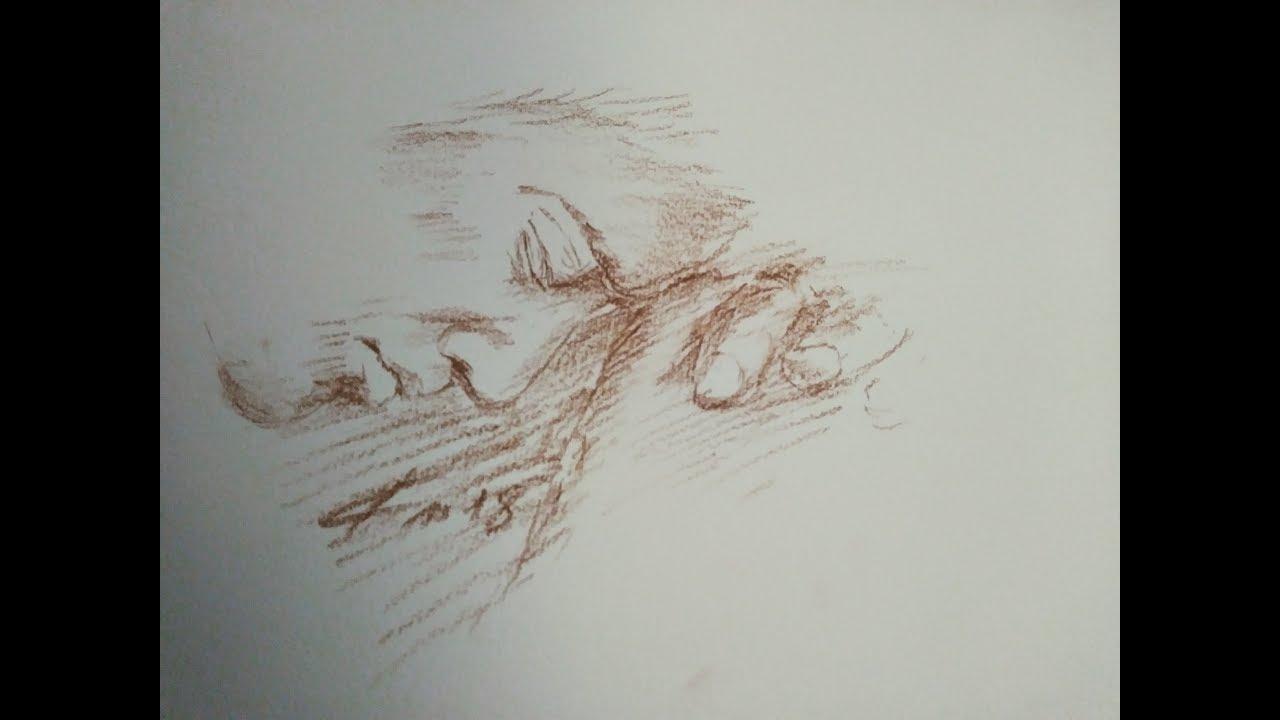Comment dessiner un homme en prière à la sanguine sur le Notre Père de Glorious
