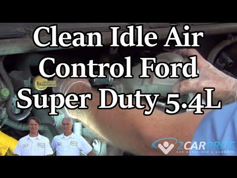 Clean Idle Air Control Ford Super Duty 54L V8 1999-2007 - YouTube