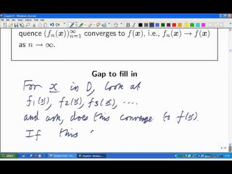 Lecture 17b: Math. Analysis - Pointwise convergence: definition and examples.