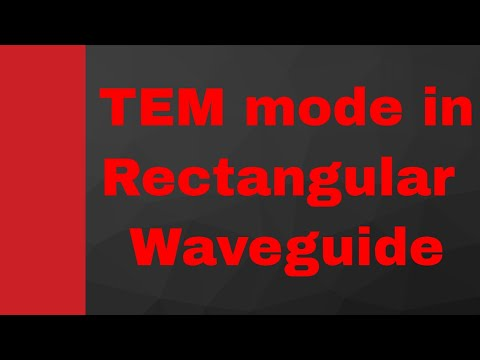 Why TEM mode is not possible to propagate in rectangular waveguide? (Microwave by Engineering Funda)