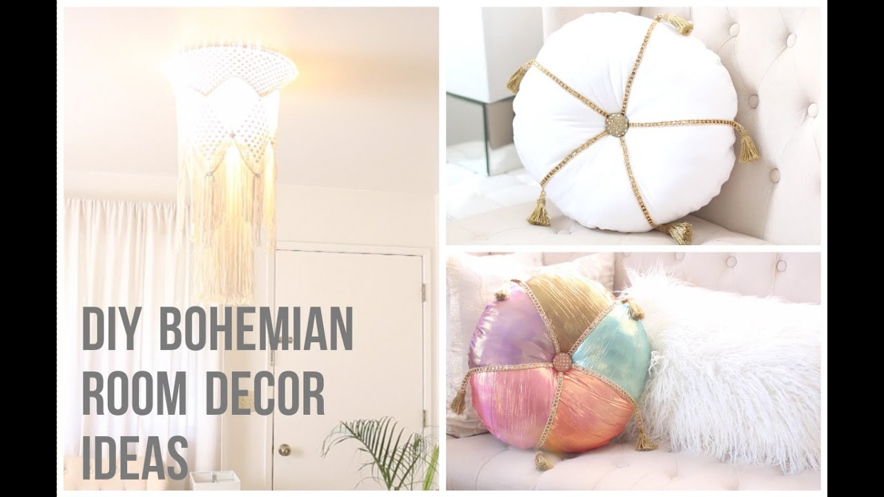 DIY Bohemian Room Decor Ideas - YouTube