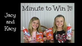 Minute to Win It Challenge ~ Valentine Edition 2015 ~ Jacy and Kacy