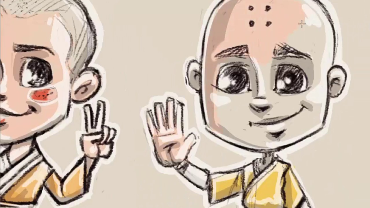 Character drawing how we draw cartoon character sketches making monks