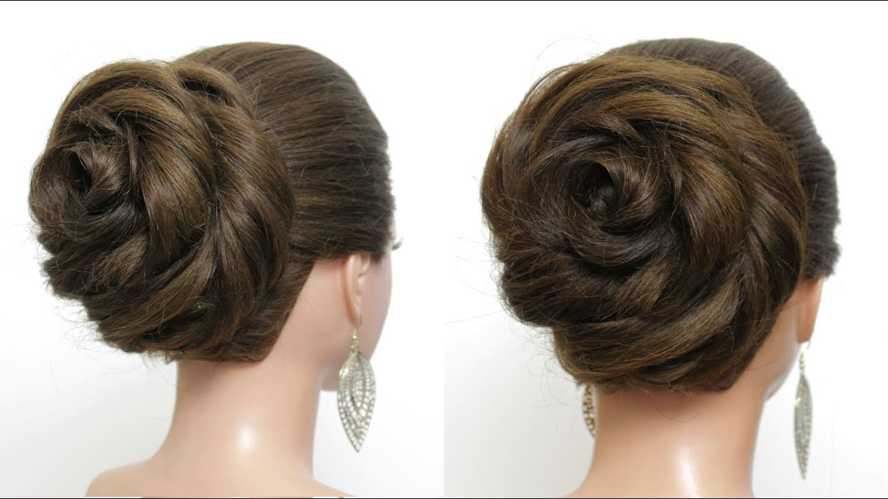 easy wedding bun updo. cute hairstyles for girls with long hair