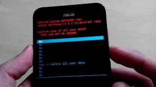 Сделать сброс настроек  Asus Zenfone макс ZC550KL