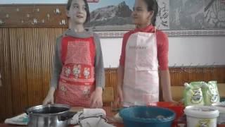 Делаем салат на уроке труда