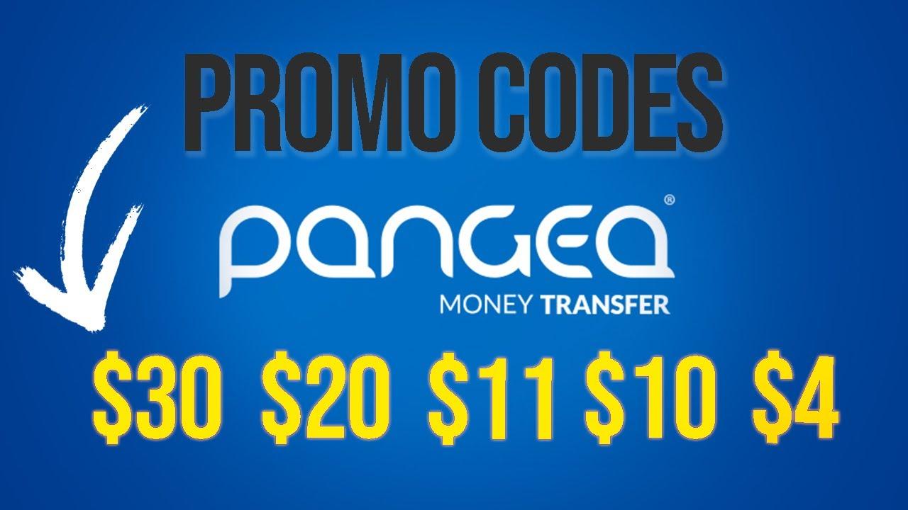 Pangea Money Transfer Promo Codes 30 20 11 10 4