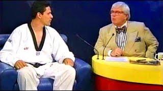 Jô Soares e Campeão de Artes Marciais Andre Lima do TaeKwonDo