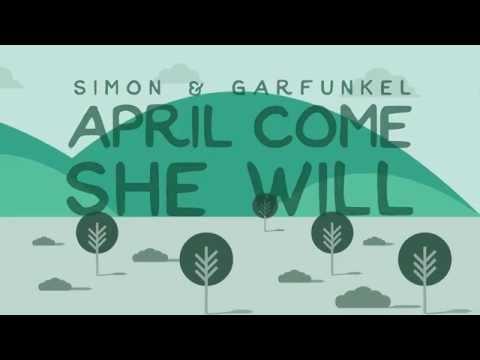Simon & Garfunkel - April Come She Will (Lyric Video)