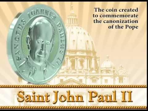 "2$ Silver coin ""Saint John Paul II"" for the canonization of John Paul II - Niue Island 2014"
