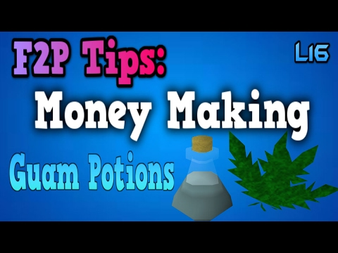 Best Runescape F2P Money Making Methods (2017): Guam Potions