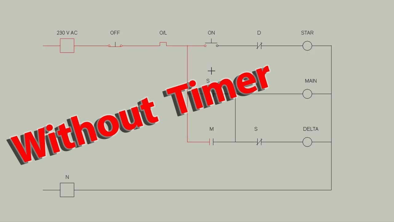 star delta starter control circuit diagram [ 1280 x 720 Pixel ]