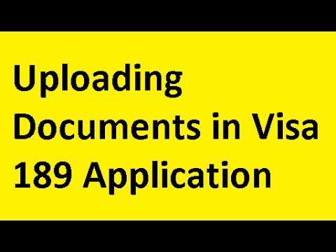 Uploading Documents for Visa 189 Application - Australian Immigration