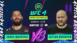 Jorge Masvidal vs. Action Bronson | EA SPORTS UFC 4 Virtual Fight Card LIVE