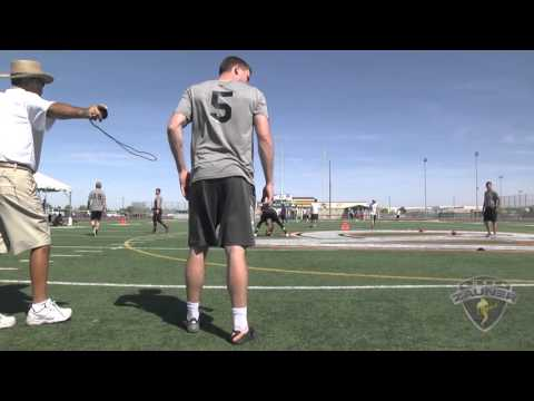 Jacob Daricek snaps to punter brett maher March 2016