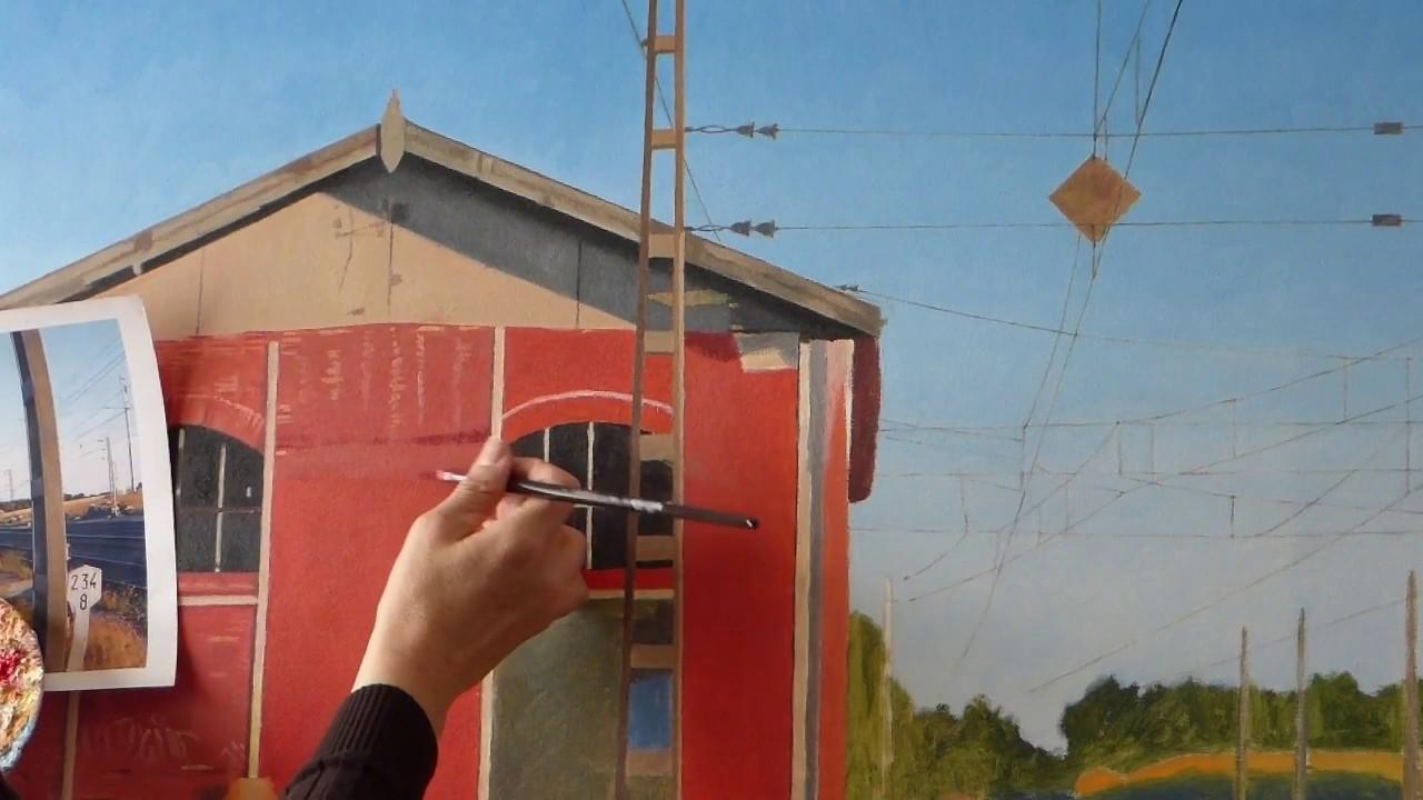 Cómo Pintar Un Cuadro Hiperrealista 4 Apeadero De Tren En Viana