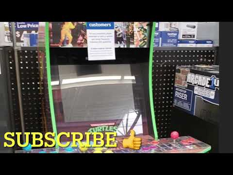 Arcade1Up TMNT Cheap Floor Model Walmart Arcade 1Up Teenage Mutant Ninja Turtles from rarecoolitems