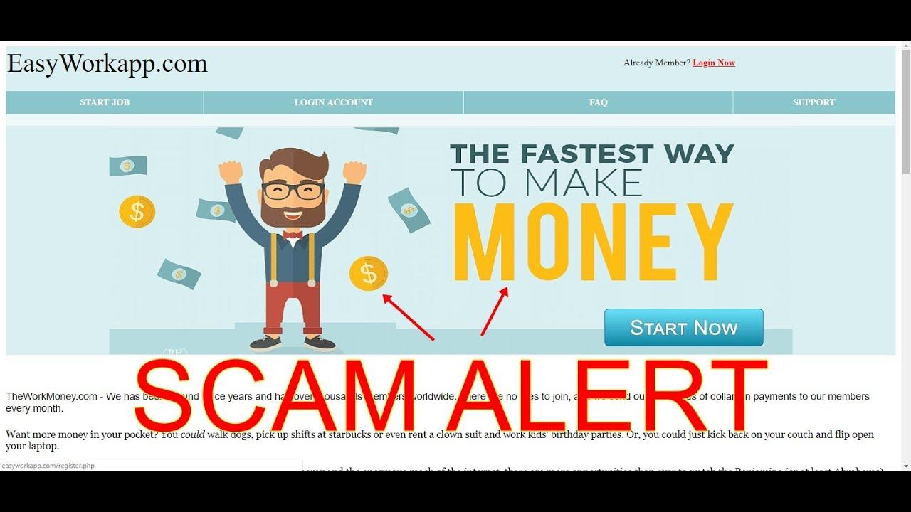 Scam Alert!  The Fastest Way To Make Money? #1