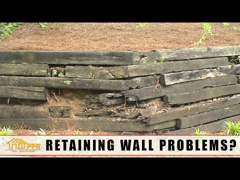 Railroad Tie Retaining Wall Problems Repair Or Replace 704 787 6972