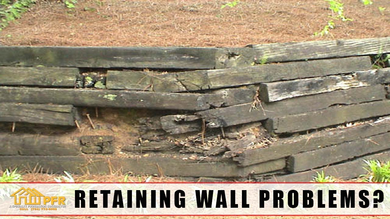 Railroad Tie Retaining Wall Problems? Retaining Wall Repair