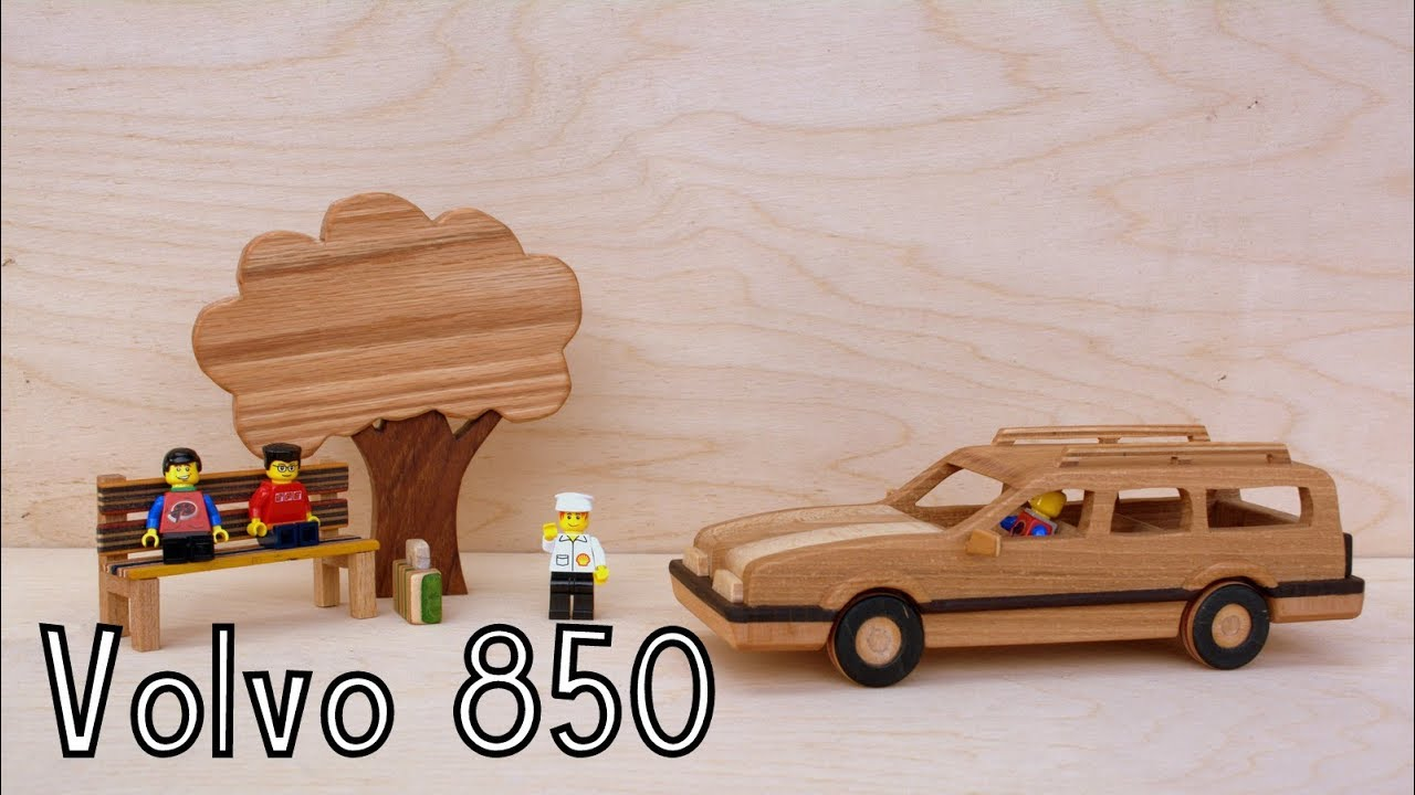 how to make a wooden toy volvo 850 estate | wooden miniature | lego  stopmotion - wooden creations